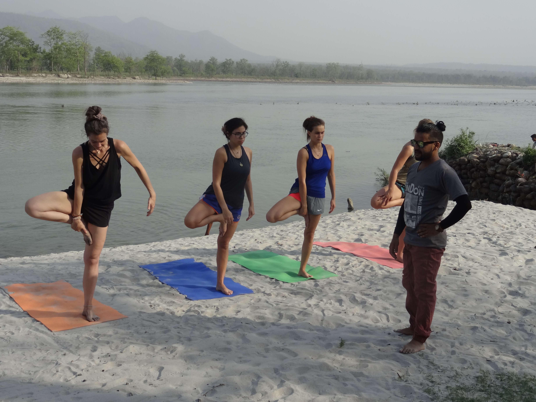 yoga on the beach Gyan Yog Breath